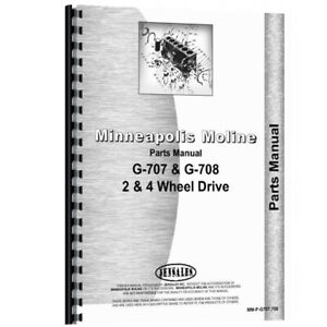 New Parts Manual Made For Minneapolis Moline Tractor Model G708