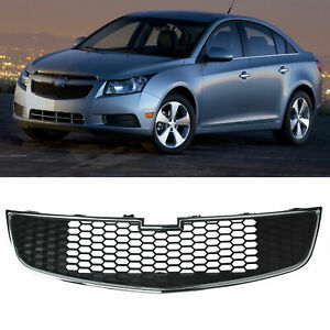 For 2011 2014 Chevy Cruze New Black Front Bumper Bottom Grille Gill Middle Lower