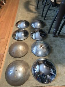 Vintage Baby Moon Chrome Mirror Hub Cap Wheel Cover Lot Of 8 Caps 10 5x10 5