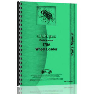 New Parts Manual For Michigan 175a Wheel Loader 19128d19177d And 2hb50