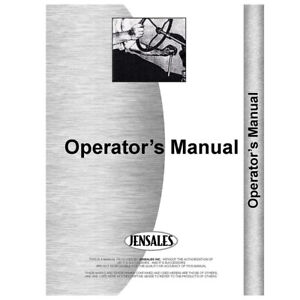 Operator Manual For International Harvester 22 Sickle Bar Tractor Mower
