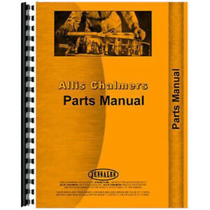 Parts Manual For Allis Chalmers Side Delivery Rake Baler Models