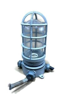 Industrial Explosion Proof Ceiling Mount Cage Light Fixture Commercial Ship Boat