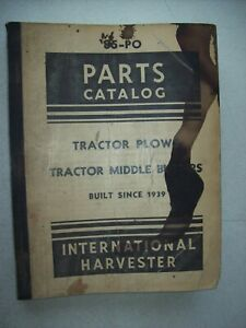 Original International Tractor Plows Middle Busters Parts Catalog Manual 85 po