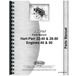 Parts Manual For Oliver hart Parr 22 40 Tractor