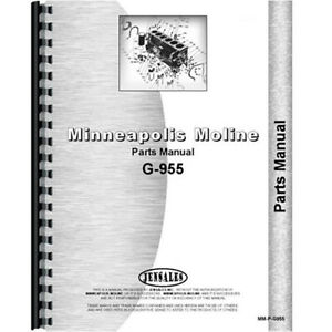 New Parts Manual For Minneapolis Moline G955 Tractor