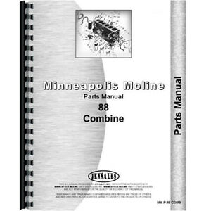 New Parts Manual For Minneapolis Moline 88 Tractor