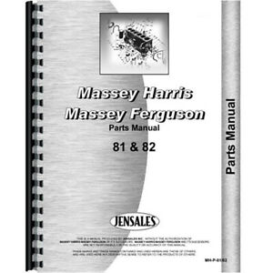 New Parts Manual Fits Massey Harris 81 82 Tractor