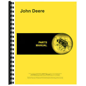 Parts Manual Fits John Deere 60 Rotary Mower tractor mounted