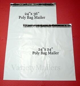 6 Extra Large Poly Bag Mailer Combo 24x24 24x36 Big Shipping Envelope Bags