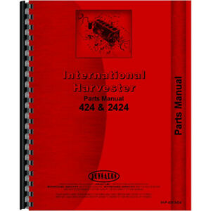 Tractor Parts Manual For International Harvester 2424