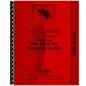 Tractor Parts Manual For International Harvester 184