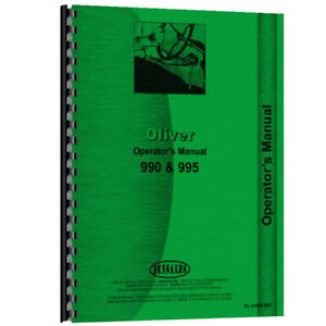 Tractor Operator s Manual For Oliver 995