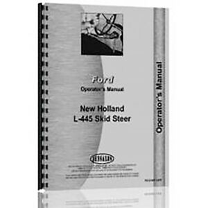 Skid Steer Operator Manual For Holland L445