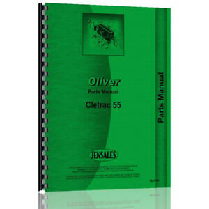 Crawler Parts Manual For Oliver Cletrac 55 1938 Up 144 Pages
