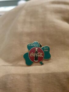 2000 St Patrick's Day Coca-Cola Pin/Badge