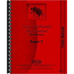 Parts Manual For Farmall International Harvester C Tractor 1951 To 1954