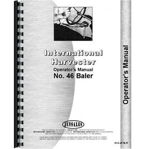Baler Operators Manual For International Harvester 46