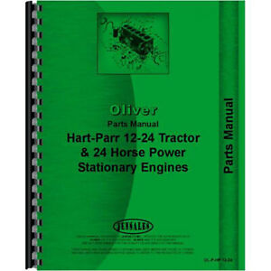 Tractor Parts Manual For Oliver For Hart Parr 24 12