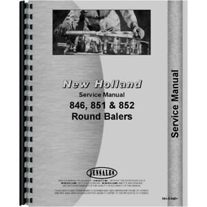 Service Manual Fits New Holland 851 Round Baler