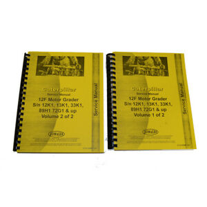 Service Manual For Caterpillar 12f Motor Grader Sn 13k1 up 33k1 up 89h1 up