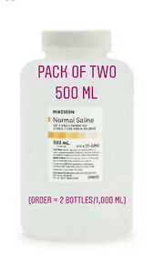 Normal Saline Usp Solution Sodium Chloride 0 9 solution Bottle 500ml Pack Of 2