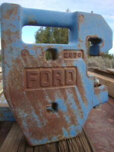 Front End Weights five With Bracket For Medium sized Ford Farm Tractor