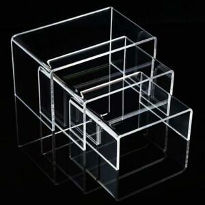 6pcs Clear Acrylic Display Jewelry Display Rack Shelf Showcase Stand