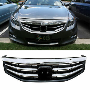 Radiator Bumper Grille Front Upper Chrome Grill For Honda Accord 2011 2012