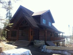 2 story Log Cabin Kit 2 078 Sq Ft Free Delivery Assembly Hand Carved Logs