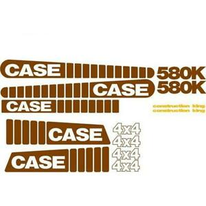 Whole Machine Decal Set Fits Case Construction King 4 X 4 Backhoe Loader 580k
