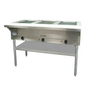 Adcraft St 120 3 48 1 2 In Three Well Hot Steam Table