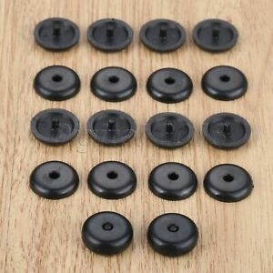 10 Pairs Buttons Clips Dia 16mm Seat Belt Stop Anti Slip Buckle Retainers Black