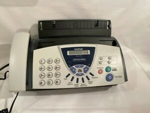 Brother Fax 575 Personal Fax Phone And Copier Home Office White Plain Paper Tray