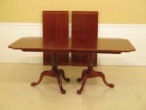 Lf37592 Hickory Chair Co Clawfoot Mahogany Dining Room Table