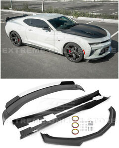 Refresh Zl1 Track Front Lip Splitter Side Skirts Rear Spoiler For 16 up Camaro