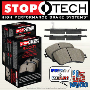 Front Rear Set Of 4 Stoptech Racing Brake Pads For Evo X W Brembo Stp9348