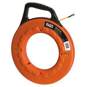 Klein Tools 50 ft Nylon Fish Tape Non Conductive Wire Cable Puller