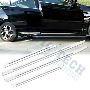 Stainless Door Side Moulding Stripe Protection Cover Trim For Honda Accord Sedan