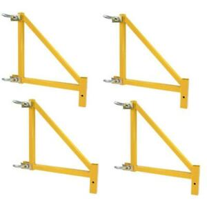 Pro series Scaffolding Outriggers 18 In Steel 1000 Lb Load Capacity 4 pack
