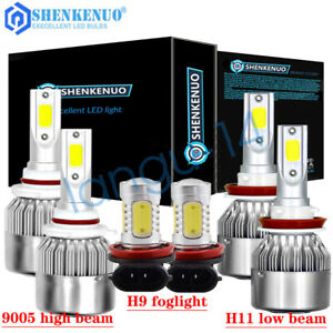 For Honda Accord 2013 2014 2015 Combo Led Headlight High Low Beam Fog Light Kit