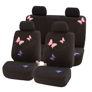 Car Seat Covers Butterfly Full Set Universal Fit For Cars Auto Truck