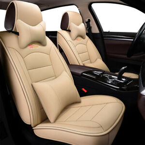 Us 5 Seat Car Desigh Leather Seat Covers Front Rear For Honda Accord Civic Hrv