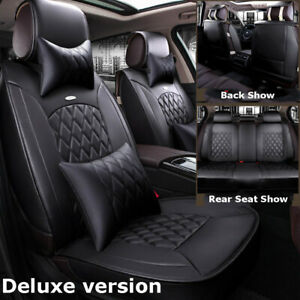 Us Microfiber Car Leather Seat Covers Front Rear Kit For Honda Accord Civic Crv