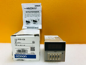 Omron H5cn xcn 100 To 240vac 3a 99 M 59s Timer New In Box Instructions
