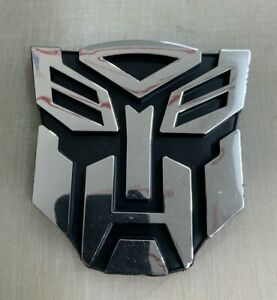 3d Chrome Autobot 3 Inch Transformers Emblem Badge Decal Car Stickers Truck New