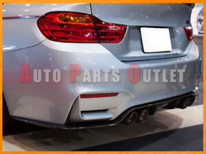 3d Style Carbon Fiber Rear Diffuser Lip For 2015 2017 Bmw F80 M3 F82 M4 Only