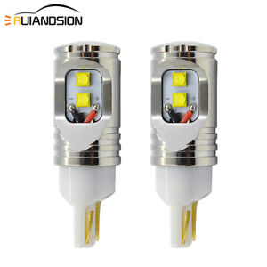 2x White T10 W5w Cree Led Indicator Side Light Reverse Bulb Interior Wedge Lamp