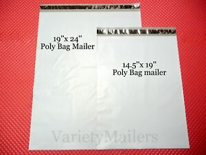 8 Large Poly Bag Mailer Combo 3 19x24 5 14 5x19 Plastic Shipping Envelopes