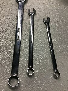 Snap On Combo Wrenches Lot Of 3